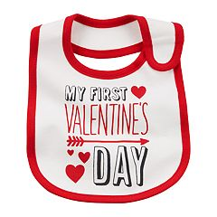 Baby Carter's 'First Valentine's Day' Graphic Bib