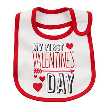 baby carters first valentines day graphic bib