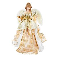 Kurt Adler Elegant Angel Christmas Tree Topper