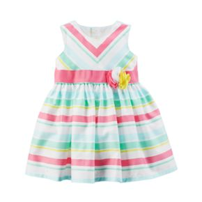 Baby Girl Carter's Multi-Colored Pastel Striped Dress