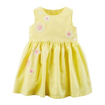 Baby Girl Carter's Flower Print Dress & Bloomers Set