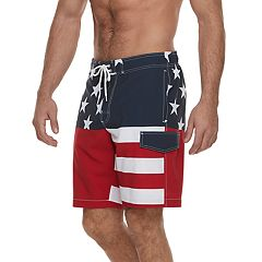 Men's SONOMA Goods for Life™ Stars & Stripes Cargo Swim Trunks