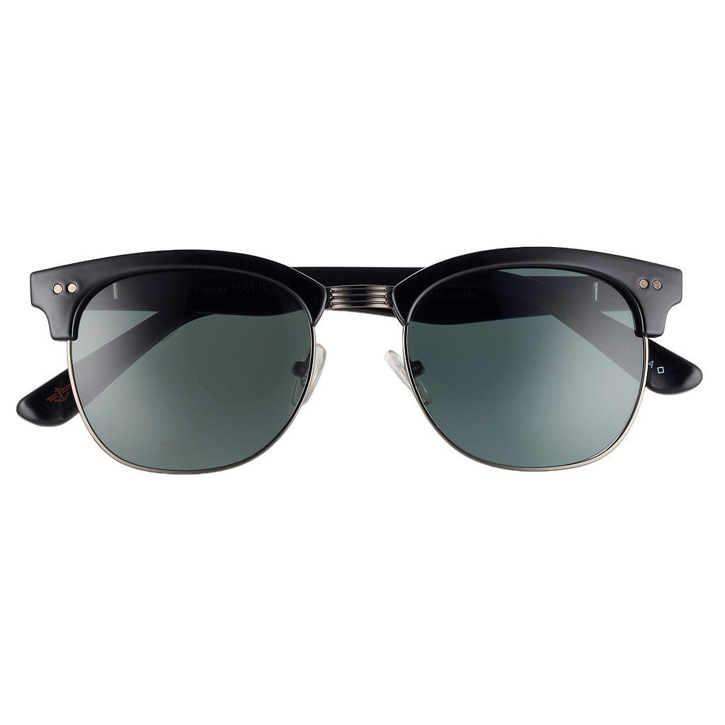 Men's Dockers Classic Clubmaster Spring Hinge Polarized Sunglasses