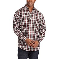 Big & Tall Chaps Classic-Fit Plaid Button-Down Shirt