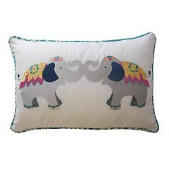 Waverly Kids Bollywood Elephant Oblong Throw Pillow