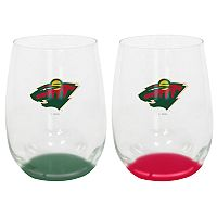 Minnesota Wild 2-Pack Stemless Wine Glass Set
