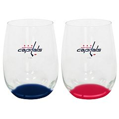 Washington Capitals 2-Pack Stemless Wine Glass Set