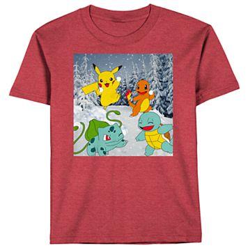 Boys 8-20 Pokemon Snowy Tee