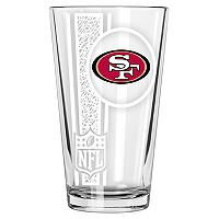 San Francisco 49ers Etched Pint Glass