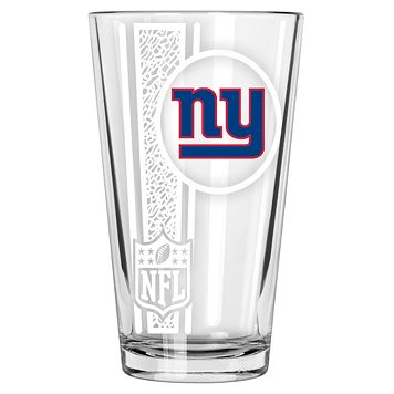 New York Giants Etched Pint Glass