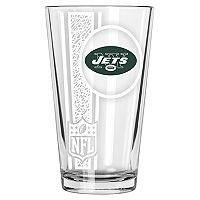 New York Jets Etched Pint Glass