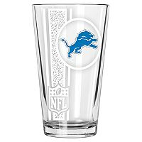 Detroit Lions Etched Pint Glass