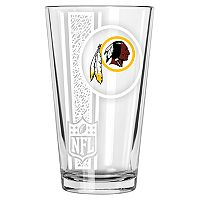 Washington Redskins Etched Pint Glass