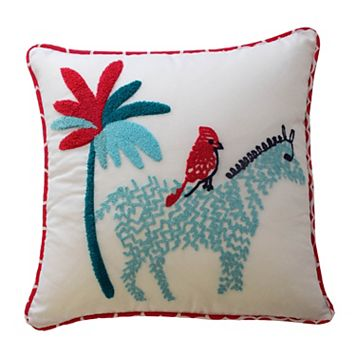 Waverly Kids Reverie Zebra Embroidered Throw Pillow