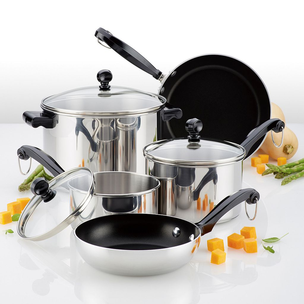 Farberware Classic 10-pc. Stainless Steel Cookware Set