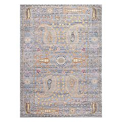 nuLOOM Vintage Killian Framed Floral Rug