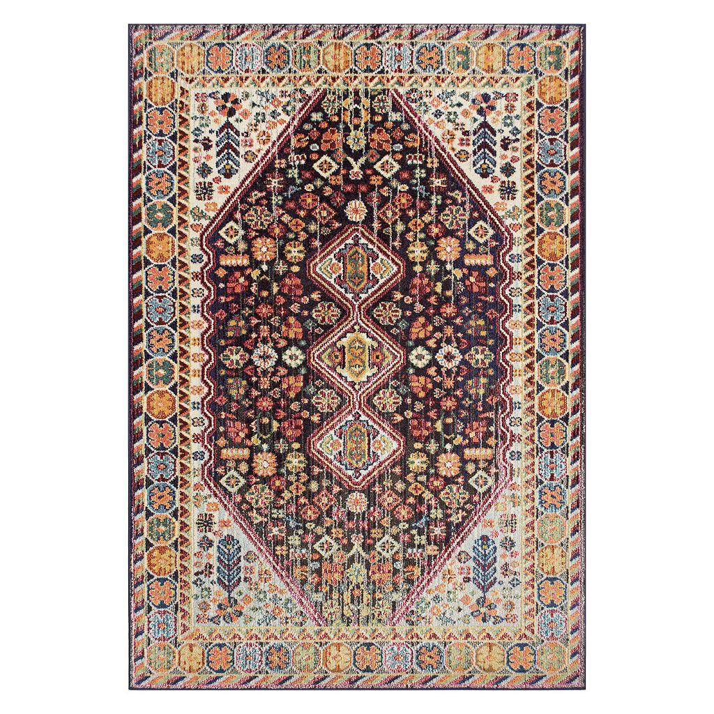 nuLOOM Vintage Erline Framed Floral Rug