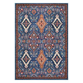 nuLOOM Diamond Elayne Framed Medallion Rug