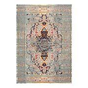 nuLOOM Distressed Persian Sarita Framed Floral Rug