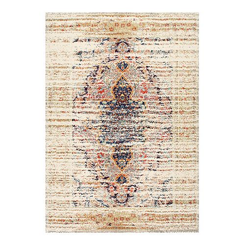 nuLOOM Distressed Persian Sarita Framed Floral Area Rug