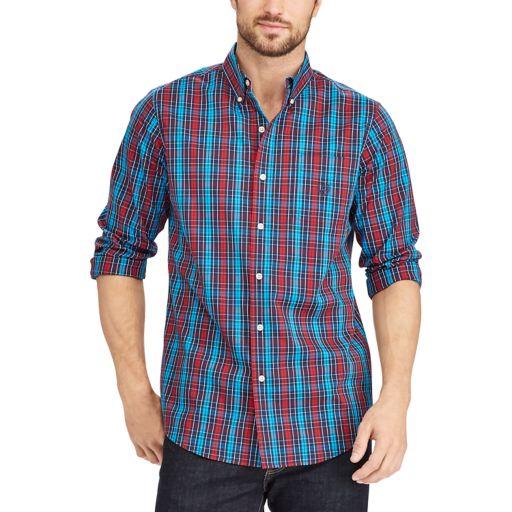 Big & Tall Chaps Classic-Fit Stretch Button-Down Shirt