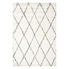 nuLOOM Marrakech Lattice Shag Wool Rug