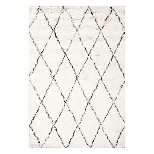 nuLOOM Marrakech Lattice Shag Wool Rug