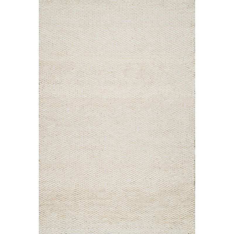 nuLOOM Hailey Solid Jute Rug, White, 6X9 Ft Product Image