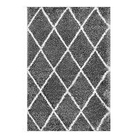 nuLOOM Diamond Geometric Lattice Shag Rug