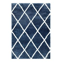 nuLOOM Diamond Geometric Lattice Shag Rug