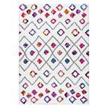 nuLOOM Tatyana Moroccan Diamond Geometric Shag Rug