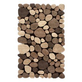 nuLOOM Pebbles Geometric Wool Rug
