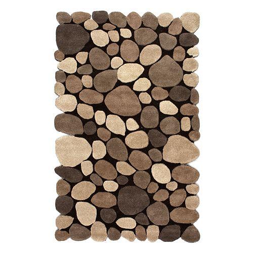 Nuloom Washable Rugs: NuLOOM Pebbles Geometric Wool Rug