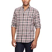 Big & Tall Chaps Classic-Fit Plaid Flannel Button-Down Shirt