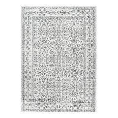nuLOOM Vintage Waddell Framed Floral Rug