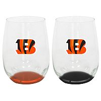Cincinnati Bengals 2-Pack Stemless Wine Glass Set