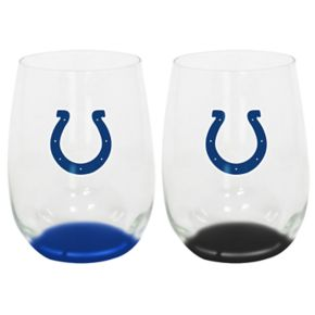 Indianapolis Colts 2-Pack Stemless Wine Glass Set