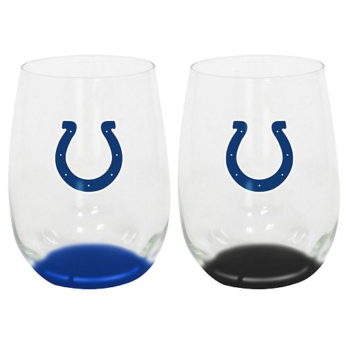 Indianapolis Colts 2 Pack Stemless Wine Glass Set