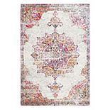 nuLOOM Sunny Wildflower Framed Medallion Rug