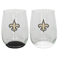 New Orleans Saints 2-Pack Stemless Wine Glass Set