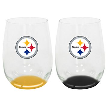 Pittsburgh Steelers 2-Pack Stemless Wine Glass Set