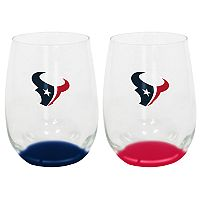 Houston Texans 2-Pack Stemless Wine Glass Set