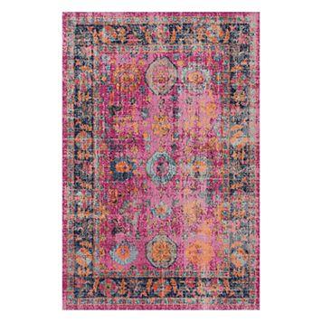 nuLOOM Persian Floral Garden Framed Rug