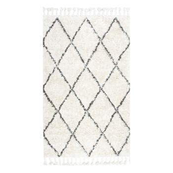 nuLOOM Fez Lattice Shag Wool Rug
