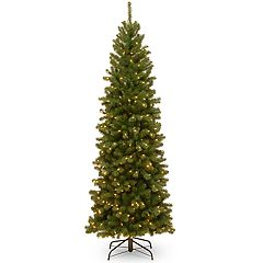 National Tree Company 7-ft. Pre-Lit North Valley Spruce Pencil Slim Artificial Christmas Tree