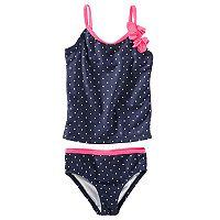 Baby Girl OshKosh B'gosh® Polka-Dot Tankini & Bikini Bottoms Swimsuit Set