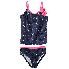 Baby Girl OshKosh B'gosh® Polka-Dot Tankini & Bikini Bottoms Swimsuit Set