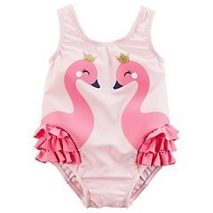 Baby Girl Carter's Flamingo Swimsuit