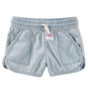Toddler Girl OshKosh B'gosh® Pull-On Crosshatch Denim Shorts