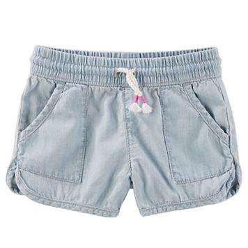 Toddler Girl OshKosh B'gosh® Pull-On Crosshatch Denim Shorts